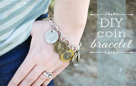 how to make coin jewelry diy coin bracelet doodles