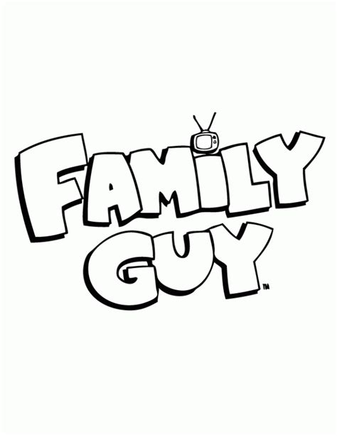 Family Guy Logo Coloring Page Coloring Pages Az