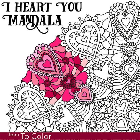 romantic mandala coloring pages items similar to romantic coloring page for grown ups