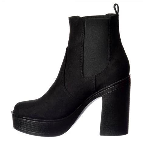 high heeled chelsea boots shoekandi classic high heeled chelsea platform ankle boots