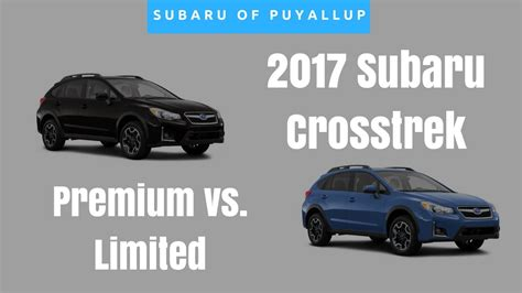 Subaru Crosstrek Limited Vs Premium by 2017 Subaru Crosstrek Limited Vs Premium Comparison