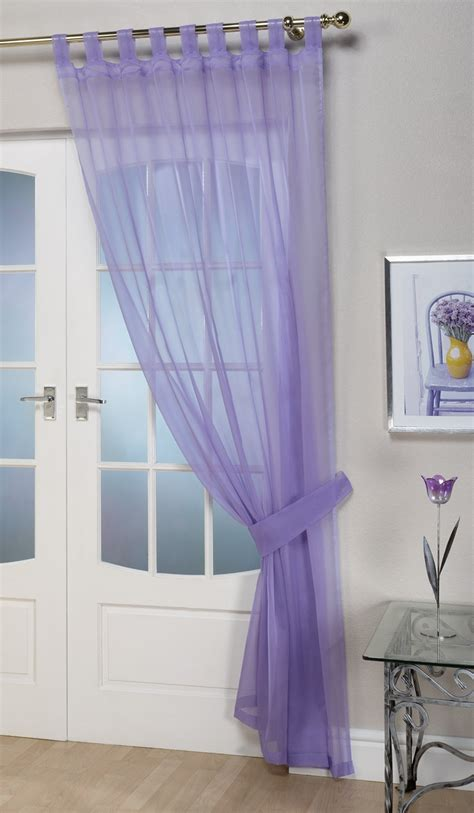 lilac curtains voile panels opaque lilac tab top curtain panel