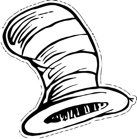 seuss hat coloring page cat in the hat coloring pages1 gif 761 215 768 dr suess