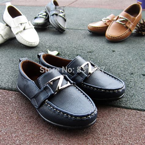 2015 new fall black baby shoes boys big boy leather dress