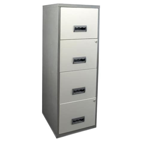 Tesco Filing Cabinet Buy Henry A4 4 Drawer Maxi Filing Cabinet Silver With White Drawers From Our Filing