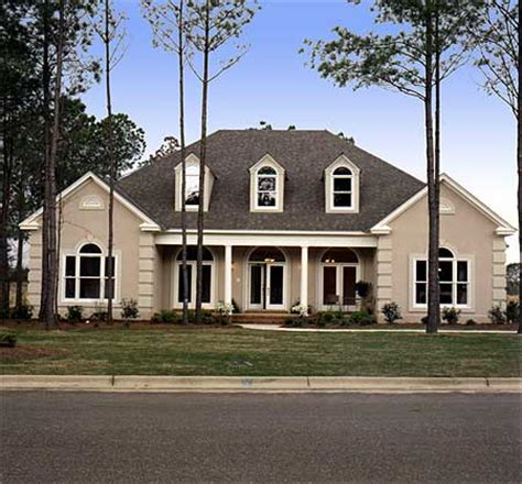 Traditional Home Plans With Photos by Triple Dormered Traditional House Plan 6031rc