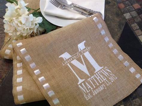 Wedding Budget 100 Juta by Burlap Monogram Burlap Personalized Monogram Embroidered
