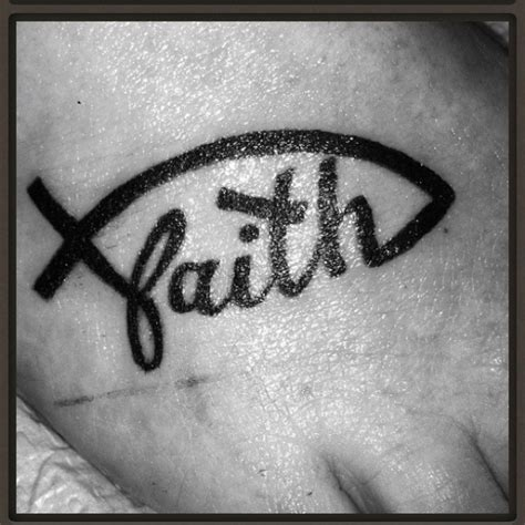 ichthus tattoo faith ichthus