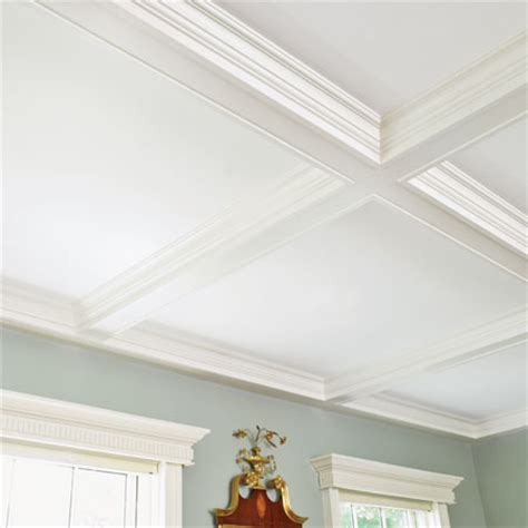 Coffered Ceiling Molding by Coffered Ceiling A Detail Oriented Renovation And