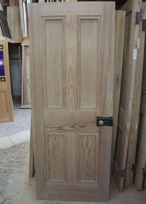 Solid 4 Panel Interior Pitch Pine Door Stained Glass 4 Panel Pine Interior Doors