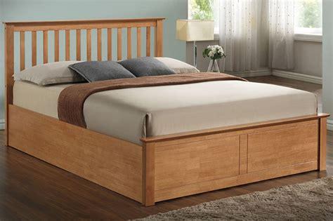 Oak Ottoman Bed Sleep Wooden Ottoman Bed In Oak Beds On Legs