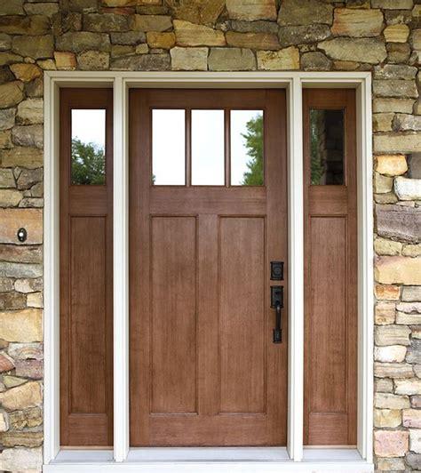 Exterior Doors Craftsman Style Fir Textured Fiberglass Craftsman Style Front Door