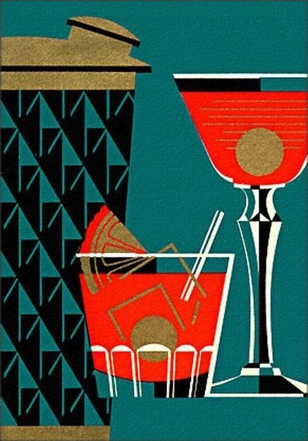vintage cocktail illustration cocktail this illustration looks deco