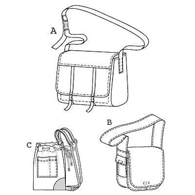pattern review template burda 7743 bags
