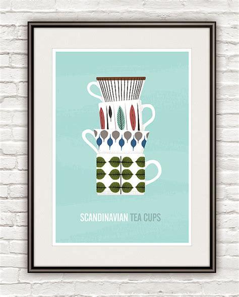 kitchen print scandinavian design stig lindberg tea