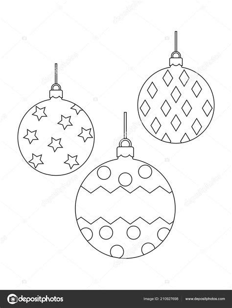 Bolas de Natal para colorir livro página vetor ilustração