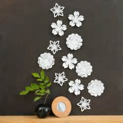 White Wall Decor by White Flower Wall Decor White Blossoms Pop Up Set Of 12
