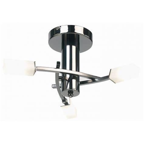 endon lighting 146 3bc black chrome semi flush ceiling light
