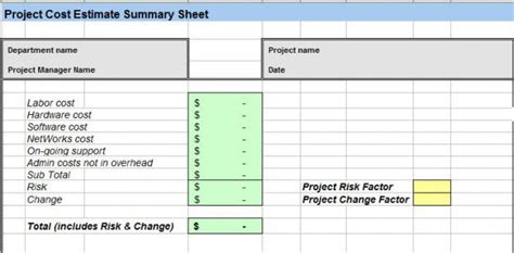 Project Cost Estimate Template Spreadsheet Project Cost Estimating Template Excel Spreadsheet Slebusinessresume Com