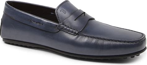 jp tods loafers lyst tod s city gommino loafers in blue for