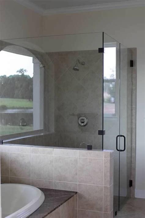 Glass Shower Half Wall by Glass Shower W Half Wall Master Bathroom
