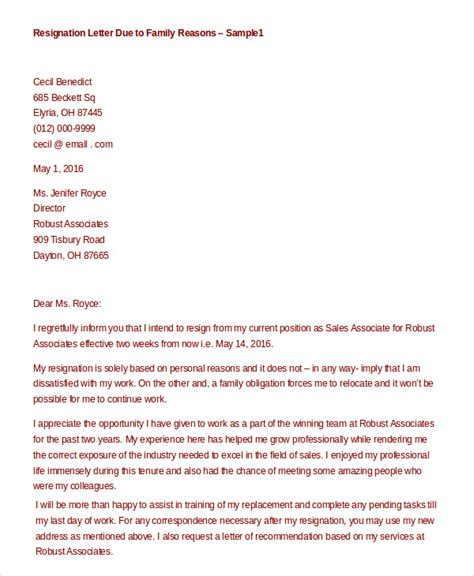 Resignation Letter Family Reasons by Formal Resignation Letter 15 Free Word Pdf Documents Free Premium Templates