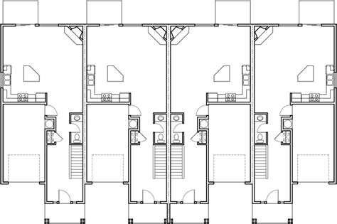 3 bedroom townhouse floor plans fourplex house plans 2 story townhouse 3 bedroom
