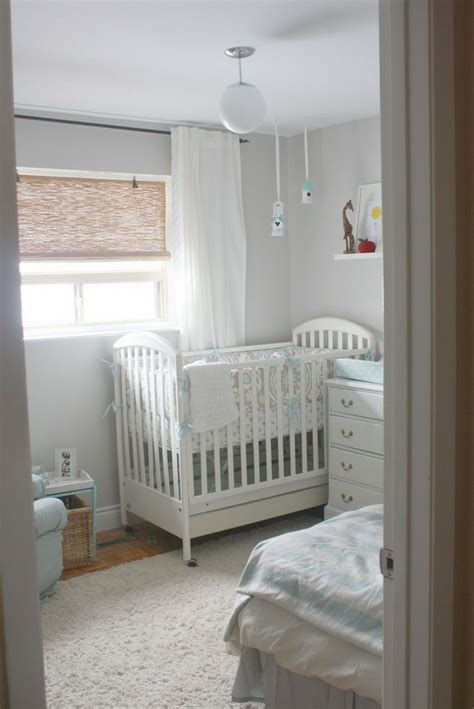 Small Grey Crib Small Nursery Ideas Furniture And Decoration Tips