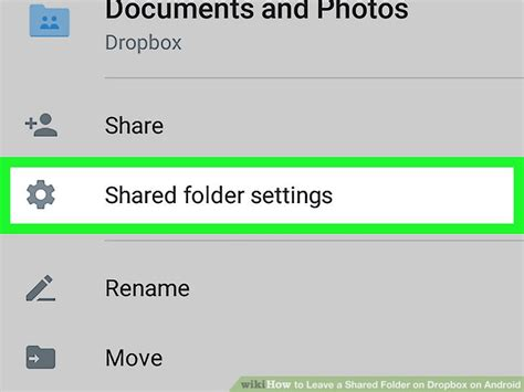 dropbox shared folder how to leave a shared folder on dropbox on android 5 steps