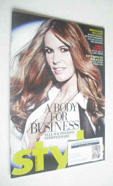Is Elles September 2008 Cover by Style Magazine Macpherson Cover 21 September 2008