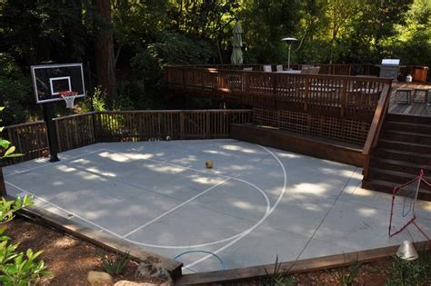 Backyard Ideas Sports Be A Sport Build A Backyard Basketball Court