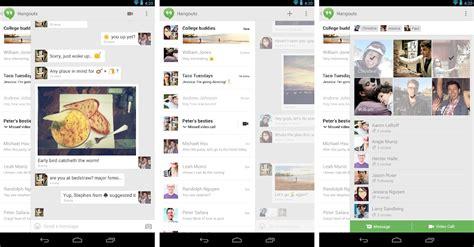 hangouts android hangouts le rempla 231 ant de gtalk est arriv 233 sur android
