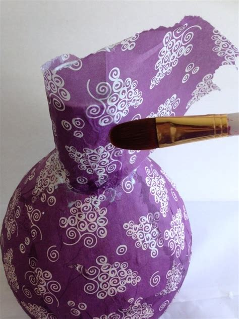 Paper Napkin Crafts - decoupage napkins on paper mache vases hometalk