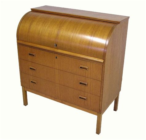 teak roll top desk 1960 70s teak roll top writing desk hoopers modern