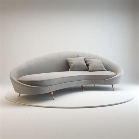 Kidney Shaped Sofa Curved Sofa Ico 3d 3ds
