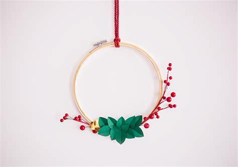 imagenes navidad minimalistas diy corona de navidad