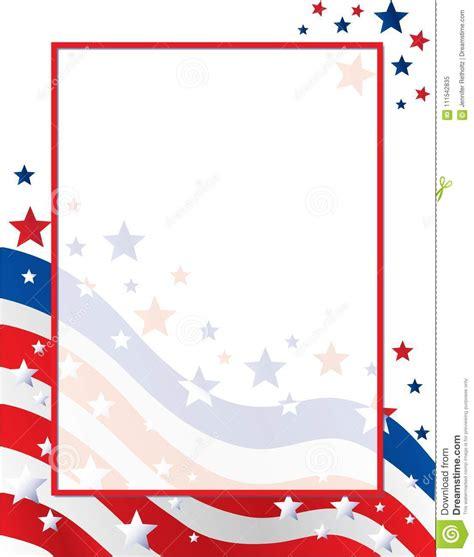United States Of America Stars And Stripes Flag Border Template Stock Illustration American Flag Invitation Template