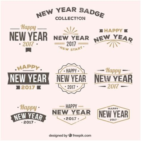 new year year born merry and and happy new year vector free