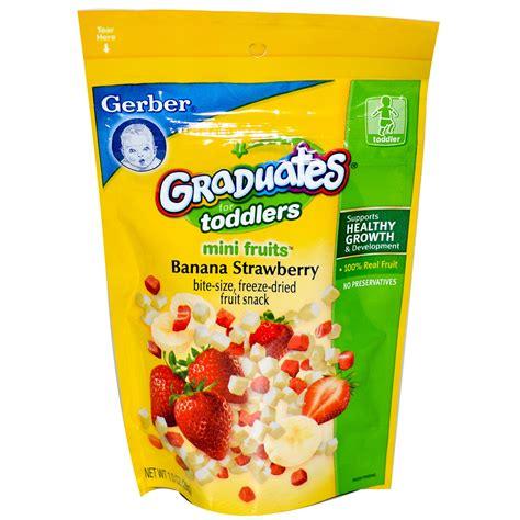 gerber s gerber graduates for toddlers mini fruits banana