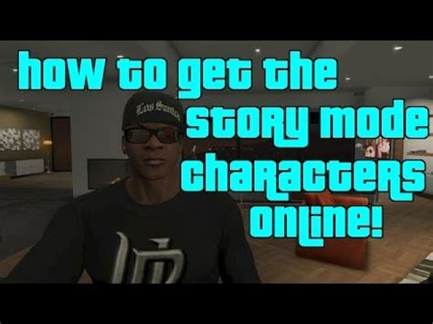 gta 5 online how to get the story mode characters online