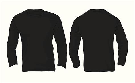 Royalty Free Long Sleeve Clip Art Vector Images Illustrations Istock Black Sleeve Shirt Template
