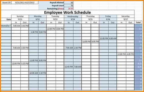 monthly staffing schedule template monthly employee schedule template excel task list templates