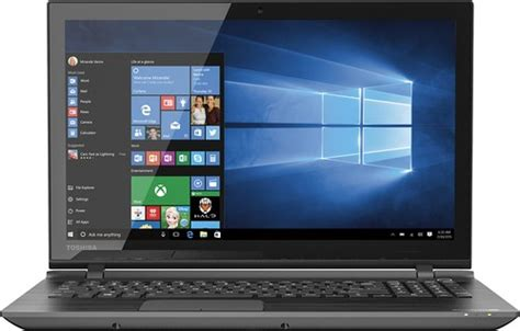 toshiba satellite 15 6 quot touch screen laptop intel i3 6gb memory 1tb drive black