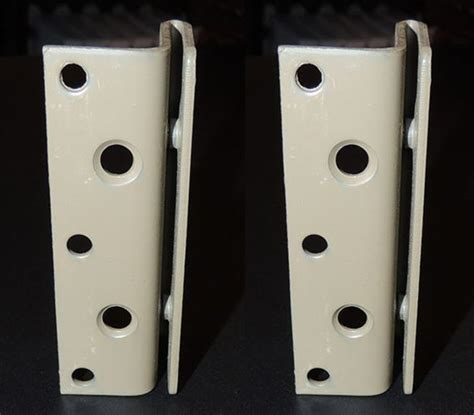 bed brackets bed frame to bed post double hook bracket set of 2
