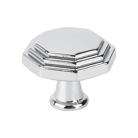 Italian Cabinet Knobs by Topex Italian Designs Collection 1 In Chrome Octagon