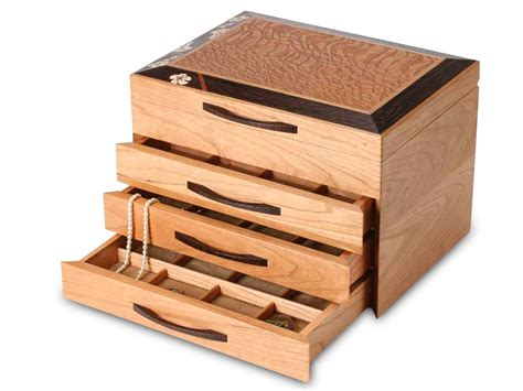 Box Jewelry Drawer handmade wooden jewelry boxes for and heartwood creations