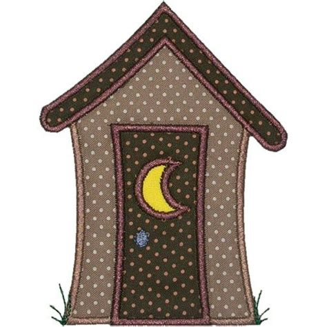 Applique Country by Country Outhouse Applique Design Kitchen Drawer