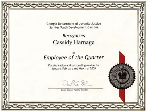 employee of the quarter certificate template employee of the quarter my certificate