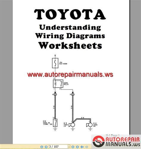 toyota understand wiring diagrams auto repair manual
