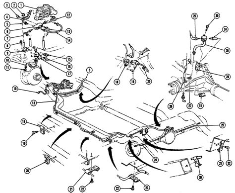 Brake Line Routing Diagram 1967 68 Firebird Brake Lines Exploded View Images Frompo